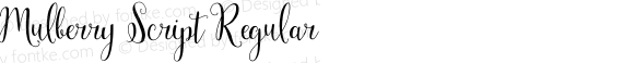 Mulberry Script Regular preview image