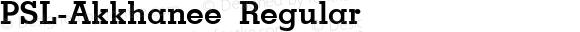 PSL-Akkhanee Regular Version 1.000 2006 initial release