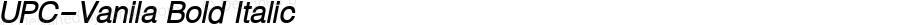 UPC-Vanila Bold Italic 10.2