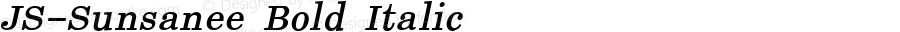 JS-Sunsanee Bold Italic Version 1.000 2006 initial release