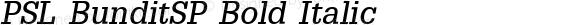 PSL BunditSP Bold Italic Series 2, Version 3.0, for Win 95/98/ME/2000/NT, release December 2000.