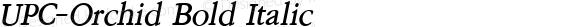 UPC-Orchid Bold Italic 001.000