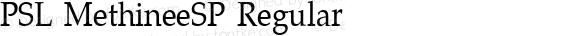 PSL MethineeSP Regular PSL Series 3, Version 1.0, release November 2000.