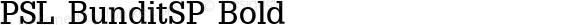 PSL BunditSP Bold Series 2, Version 3.0, for Win 95/98/ME/2000/NT, release December 2000.