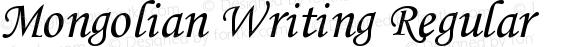 Mongolian Writing Regular preview image