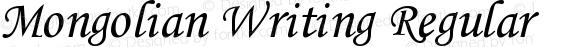 Mongolian Writing Regular 1.1