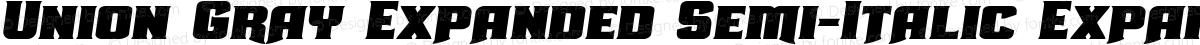 Union Gray Expanded Semi-Italic Expanded Semi-Italic