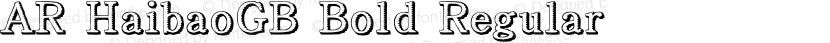 AR HaibaoGB Bold Regular Preview Image