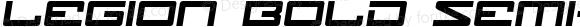 Legion Bold Semi-Italic Bold Semi-Italic