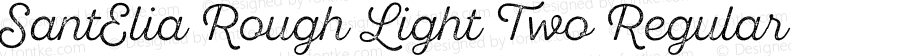 SantElia Rough Light Two Regular Version 1.000