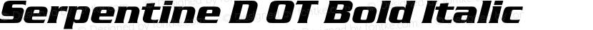 Serpentine D OT Bold Italic Preview Image