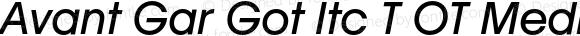 Avant Gar Got Itc T OT Medium Italic OTF 1.001;PS 001.005;Core 1.0.27;makeotf.lib(1.11)