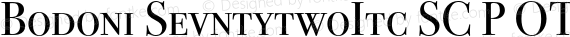 Bodoni SevntytwoItc SC P OT Regular preview image