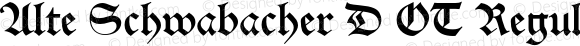 Alte Schwabacher D OT Regular OTF 1.001;PS 1.05;Core 1.0.27;makeotf.lib(1.11)