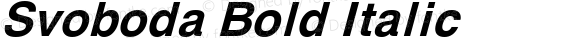 Svoboda Bold Italic