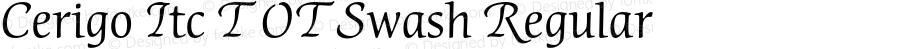 Cerigo Itc T OT Swash Regular OTF 1.002;PS 1.05;Core 1.0.27;makeotf.lib(1.11)