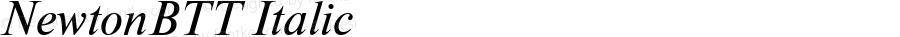 NewtonBTT Italic TrueType Maker version 3.00.00