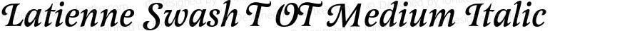 Latienne Swash T OT Medium Italic OTF 1.001;PS 1.05;Core 1.0.27;makeotf.lib(1.11)