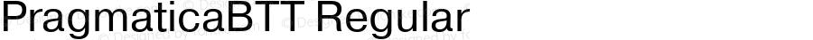 PragmaticaBTT Regular TrueType Maker version 3.00.00