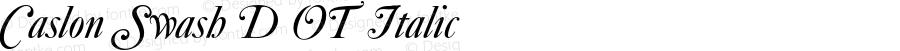 Caslon Swash D OT Italic OTF 1.001;PS 1.05;Core 1.0.27;makeotf.lib(1.11)