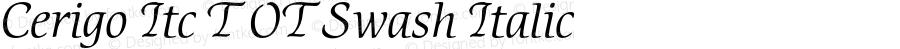 Cerigo Itc T OT Swash Italic OTF 1.002;PS 1.05;Core 1.0.27;makeotf.lib(1.11)