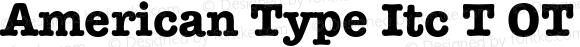 American Type Itc T OT Bold OTF 1.001;PS 1.05;Core 1.0.27;makeotf.lib(1.11)