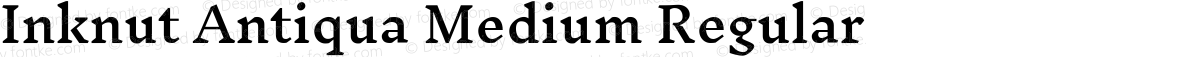 Inknut Antiqua Medium Regular