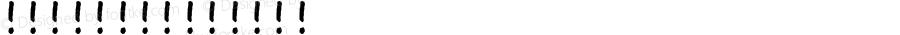 【微博:暖色君】娜娜体 常规 Version 0.00 May 6, 2015