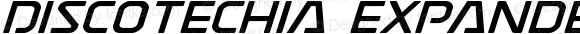 Discotechia Expanded Italic Expanded