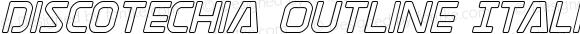 Discotechia Outline Italic Outline