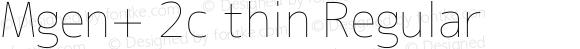 Mgen+ 2c thin Regular