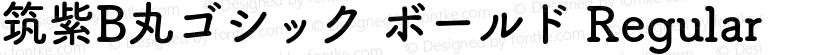 筑紫B丸ゴシック ボールド Regular Preview Image