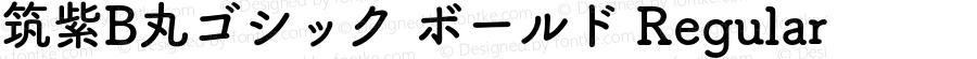 筑紫B丸ゴシック ボールド Regular 10.0d2e4