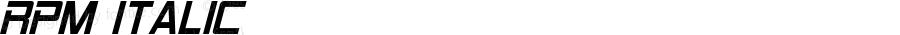 RPM Italic Version 1.00 June 10, 2015, initial release
