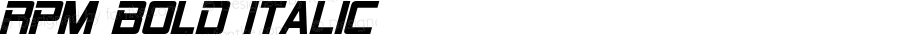 RPM Bold Italic Version 1.00 June 10, 2015, initial release