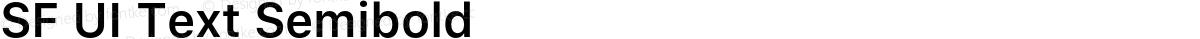 SF UI Text Semibold
