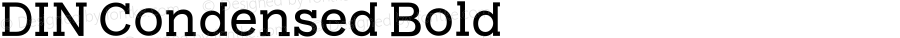 DIN Condensed Bold