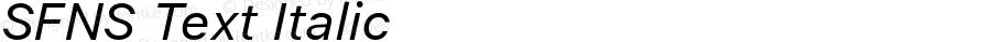 SFNS Text Italic 11.0d45e1--BETA