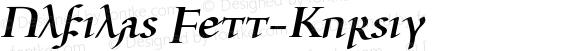 Ulfilas Fett-Kursiv Version 2.0 (kompletter Neuschnitt)