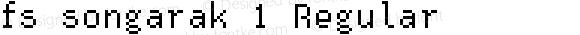fs songarak 1 Regular