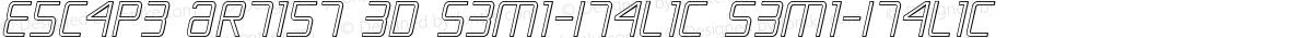 Escape Artist 3D Semi-Italic Semi-Italic