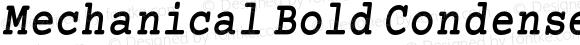 Mechanical Bold Condensed Oblique