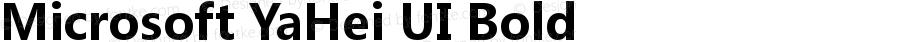 Microsoft YaHei UI Bold Version 6.12