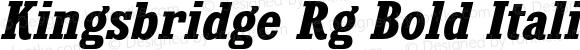 Kingsbridge Rg Bold Italic