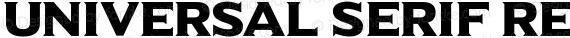 Universal Serif Regular preview image