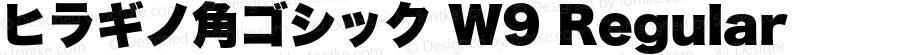ヒラギノ角ゴシック W9 Regular 11.0d2e3