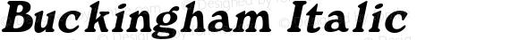 Buckingham Italic