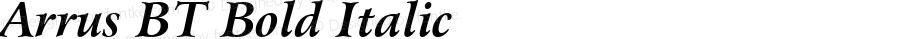 Bitstream Arrus Bold Italic BT