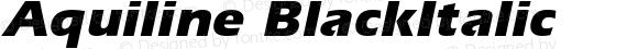 Aquiline BlackItalic