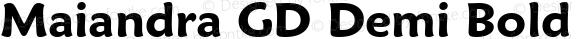 Maiandra GD Demi Bold